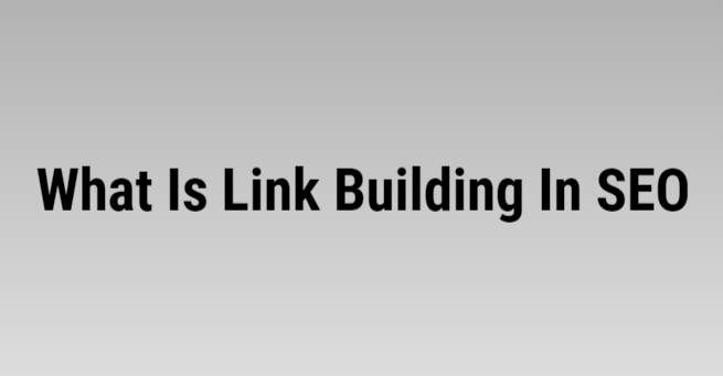 It is a process of creating, building, and promoting a website through one way, two ways, and three ways linking.