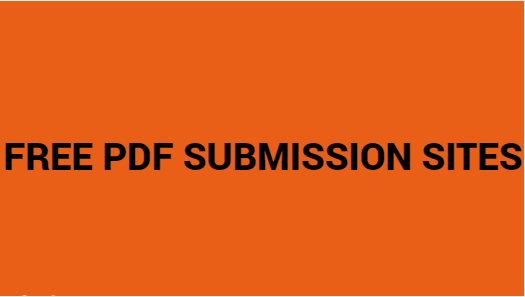 FREE PDF SUBMISSION SITES
