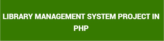 Library Management System Project In Php