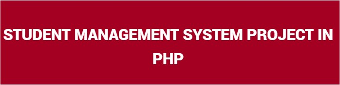 Student Management System Project In Php