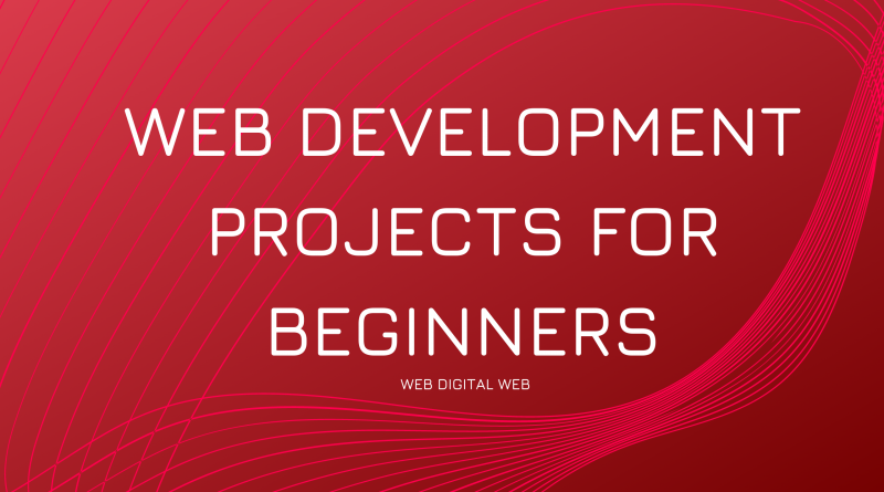 web development projects for beginners