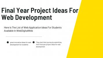 final year project ideas for web development