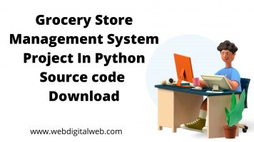 Grocery Store Management System Project In Python with source code