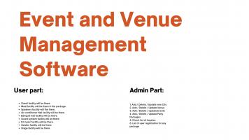 Event and Venue Management Software Dwonload