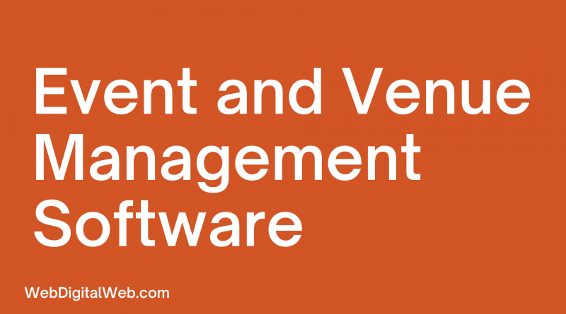 Event and Venue Management Software