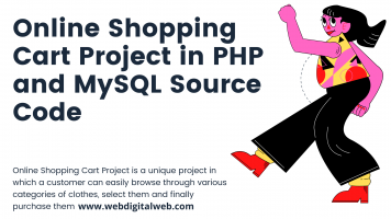 online shopping cart project in PHP and MySQL source code