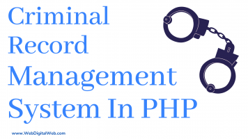 Crime Record Management System Project In PHP And MySQL