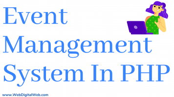 Event Management System Project In PHP