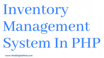 Inventory In Management System In PHP With Source Code